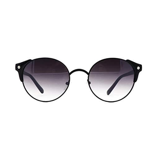 de Retro Black Lens pour LiShihuan Color Femmes Rondes Gray Lunettes Black Frame Lens Les Frame Soleil Frame Gray tO5tqvxw