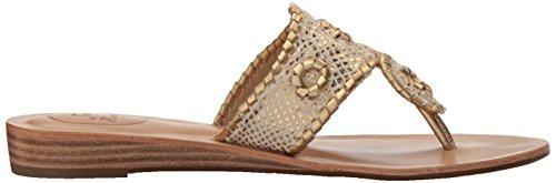 Jack Rogers Women's Carissa Dress Sandal White/Gold YNcKy2x9