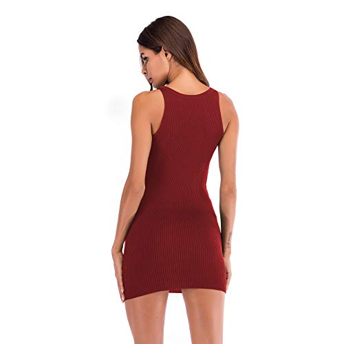 a1dc0b96787a Mini Da Dell anca Fashion Chic Ragazza Rosso V Con Cerimonia Estivi Del  Vestiti Tubino Vestito Abiti Donna Eleganti Pacchetto Smanicato Di Moda ...