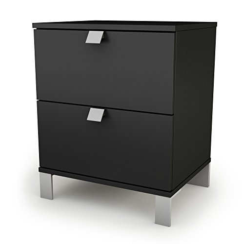 South Shore Spark Collection Night Stand, Pure Black