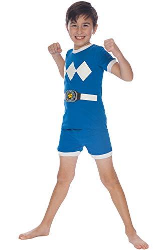 Yellow Power Ranger Megaforce Costume (Power Rangers Little & Big Boys Character Cotton Pajamas (Blue,)