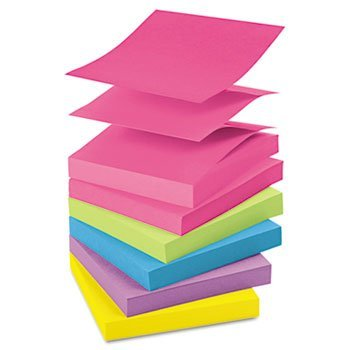 Post-it® Ultra Color Pop-Up Note Refills NOTE,3X3,100SHPD,1