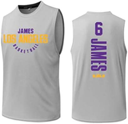 #6 、バスケットボールユニフォーム、ゲームトレーニングジャージ、ポリエステル繊維バスケットボールユニフォーム、グレー、 S-3XL