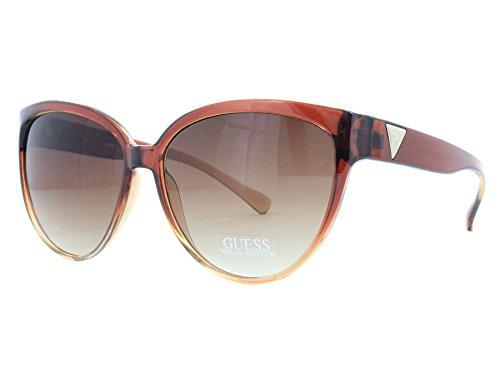 Guess GUF 220 BRN 34A Brown / Brown Gradient Sunglasses ()