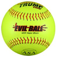 Evil Ball ASA 44-375 HOT Leather Cover 44 core 375 Compression Softball, 12-Inch Comp, Pack of 12