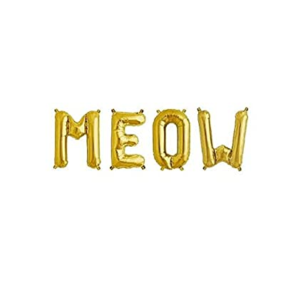 16meow gold letter balloonsmeow birthday meow birthday theme meow party