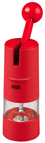 Plastic Salt And Pepper Mill (Kuhn Rikon High Performance Ratchet Grinder, Red)