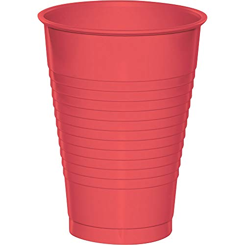 Coral 12oz Plastic Cups 240ct ()