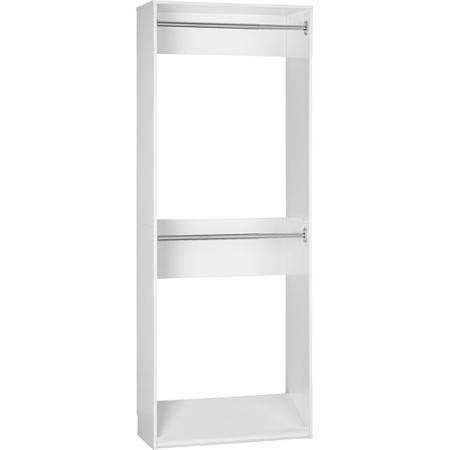 SystemBuild Closet Organizer 32 inch Expander, White 7150401PCOM