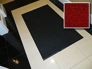 Carpet Mat Pro Heavy Duty Indoor Walk Off Entry Mat For Home 4 x 10 – Red – Non Skid Hallway Runner Matting