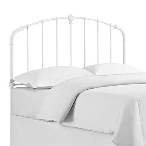 Crosley Furniture CF91005-601WH Hazel Curved Metal Headboard, King, White