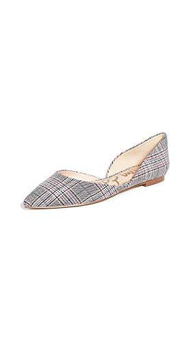 Plaid Black Pink - Sam Edelman Women's Rodney Flats, Black/Pink Plaid, 5 M US