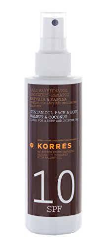 Korres Walnut And Coconut Spf 10 Suntan Oil Spray 150Ml
