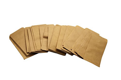 Walkingpround 100 Pieces Vintage Hybrid Seed Envelopes Blank Kraft Paper Brown Seed Bags Tobacco Seeds Corn Farm Bag (2.36