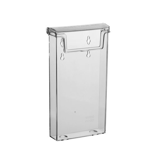 Wetterfeste Prospektbox / Prospekthalter mit Deckel im DIN Lang Hochformat