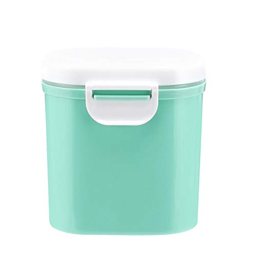 narutosak Baby Milk Powder Portable Container Outdoor Sealed Storage Box Tank Food Storage Box Dispenser Sealed Container(Pink/Green/Blue) Green-l (Best Selling Baby Milk Powder)