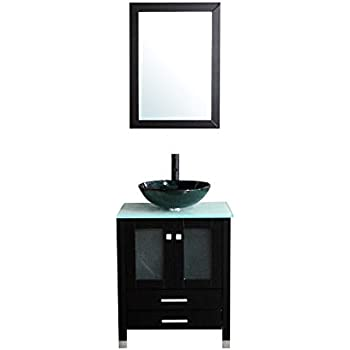Amazon Com Bathjoy 24 Inches Bathroom Vanity Set Wood