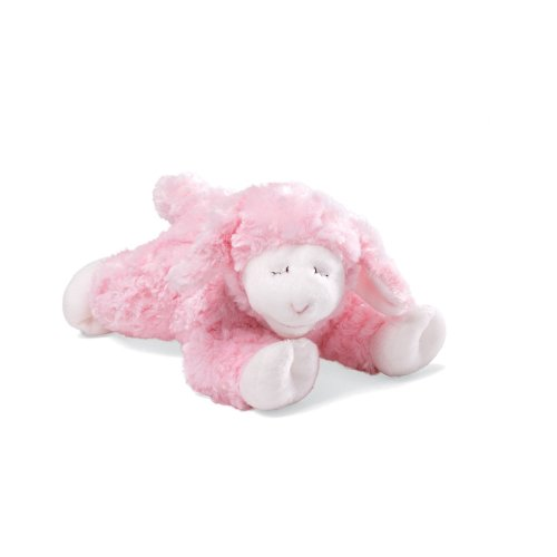 Baby GUND Winky Lamb Stuffed Animal Plush Rattle, Pink, 7
