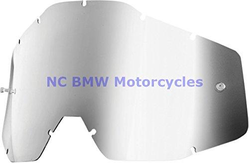 100% Racecraft Adult Replacement Lens MotoX Motorcycle Eyewear Accessories - Silver Mirror/Smoke Anti-Fog - One Size