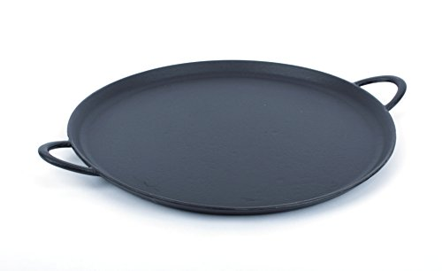 Dexart Heavy Duty Enameled Cast Iron Pizza Pan, 15 inch, Perfect Crispy Pizza at Home. Matt Enamel Coating is Scratch-Resistant and Never Rusts.