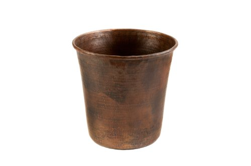 (Premier Copper Products TC11DB Hand Hammered Copper Trash Can, Oil Rubbed Bronze)