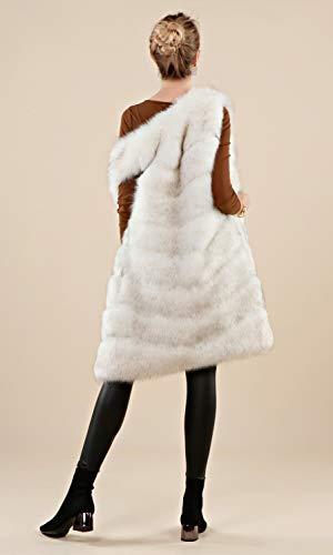 Vest 'soft Faux Per Graywhite Adulto Fur Gilet Folobe Womens WvqfxO