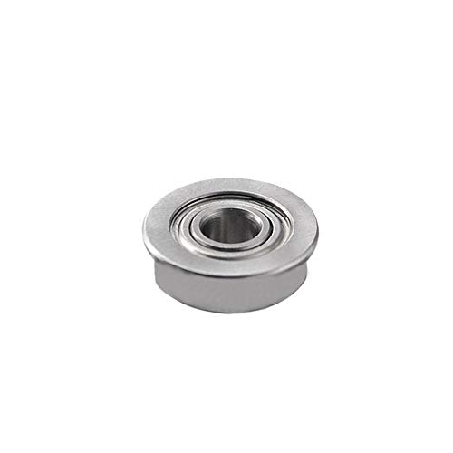 10Pcs Mini Single Flanged Ball Bearings Steel Material 3D Printer Accessory for 3D Printer Model High Resistance for A8 A6 3