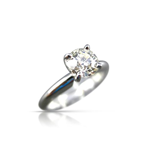 Milano Jewelers WIDE .63CT OLD MINE DIAMOND PLATINUM SOLITAIRE ENGAGEMENT RING #19260 -