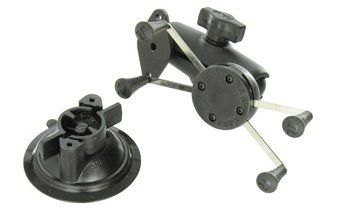 RAM Mounts (RAM-B-166-UN10U) Twist Lock Suction Cup Mount with Universal X-Grip Iv Large Phone/Phablet Holder