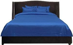 Brightlinen Turquoise Blue Double (135 X 190 Cm) Duvet Set Solid 5pcs