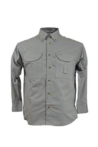 Arctic Tiger (Tiger Hill Men's Fishing Shirt Long Sleeves Arctic Grey Large)