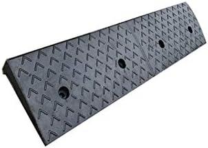 7センチの高さ - 車両の縁石は、病院用車椅子/キャラバン/スケートボード上り坂の傾斜路ドアスロープランプラバー縁石ランプ、 段差プレート (Color : Black, Size : 98*25*7CM)