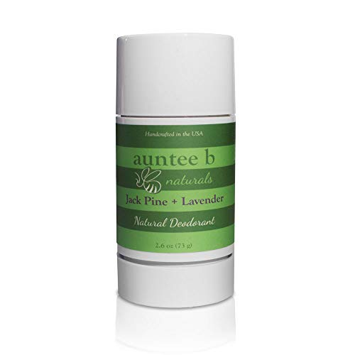 Natural Aluminum-Free Deodorant (Jack Pine/Lavender) by Auntee B Naturals | No Baking Soda | For Him and Her | No Phthalate or Parabens