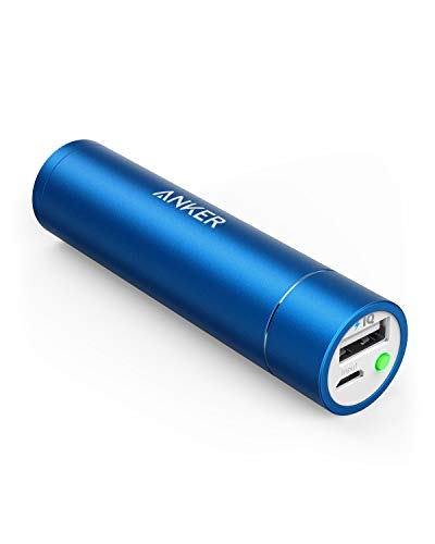 - Anker PowerCore+ Mini, 3350mAh Lipstick-Sized Portable Charger (Premium Aluminum Power Bank), One of The Most Compact External Batteries, Compatible with iPhone Xs/XR, Android Smartphones and More