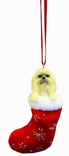 Pekingese-Christmas-Stocking-Ornament-with-Santas-Little-Pals-Hand-Painted-and-Stitched-Detail