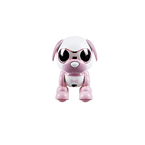 Wotryit Electronic Intelligent Pocket Pet Dog Interactive Puppy - Smart Puppy Robot Dog LED Eye Recording Singing Sleep CuteToy for Age 3 4 5 6 7 8 9 10 Year Old Boys Girls and Kids Gifts(Pink)