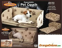 Expandable Paw Print Pet Couch For Sale