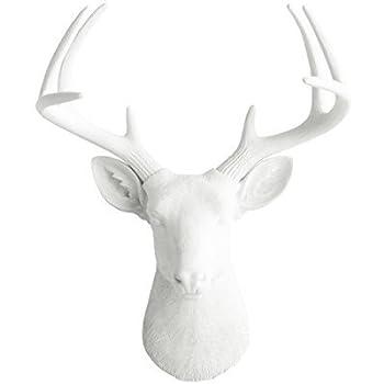 Amazon Com Deer Head By Wall Charmers White Faux Head Mount