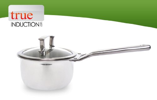 True Induction Stainless Steel Multi-ply Clad Dishwasher Safe Gourmet 1.5 L Sauce Pan