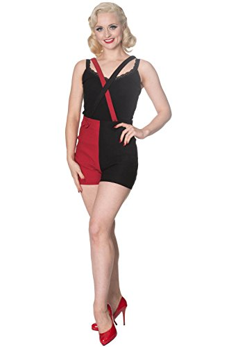 Days Donna Tutina Pantaloncini nero Dancing Rosso 0HqTvHw