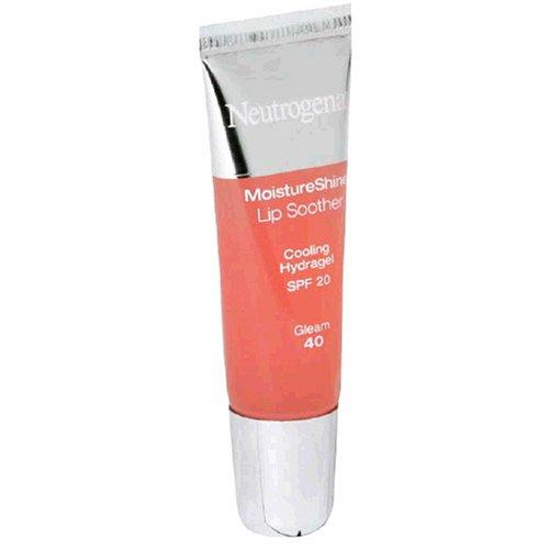 Neutrogena MoistureShine Lip Soother, SPF 20, Gleam 40, 0.35 Ounces (10 g) (Pack of 2)