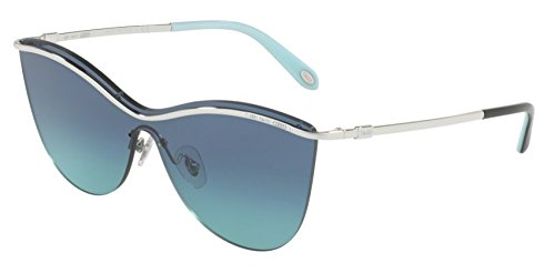 Tiffany Sunglasses TF3058 60479S SILVER FRAME, AZURE GRADIENT DARK BLUE - Tiffany Butterfly Sunglasses