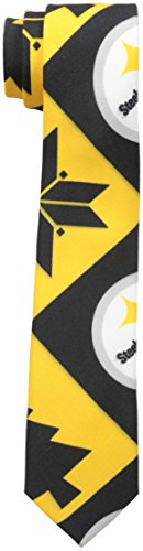 NFL Pittsburgh Steelers Men's Patches Ugly Printed Tie, One Size, Black