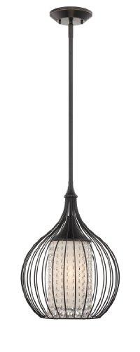 Quoizel QPP1193IB Broadview 1 Light12-Inch Diameter Rod Hung Piccolo Pendant Light Fixture (Piccolo Ceiling Lamp Pendant)
