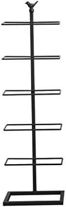 シューラックメタルコーナーシューズオーガナイザー、バルコニー玄関廊下フロア収納棚4/5/6/7層、ブラック ++ (Size : 6 layersm)