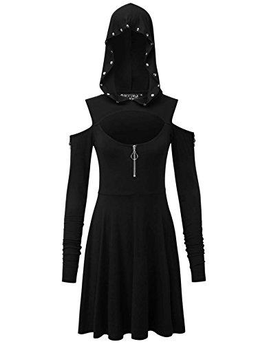 Black Killstar Dress Sleeve Long Women's Plain wXq6f