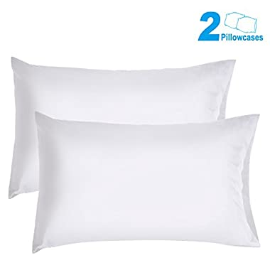 Sunnest 2 Queen Size Pillowcases Ultra Soft 100% Brushed Microfiber, 30  x 20 , White