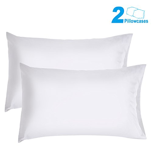 Big Save! Sunnest 2 Queen Size Pillowcases Ultra Soft 100% Brushed Microfiber, 30 x 20, White