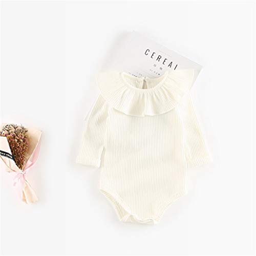 Baby Girls Rompers Newborn Baby Girl Clothes Summer Long Sleeve Cotton One-Piece Kids Jumpsuit Infant(18M,4)]()