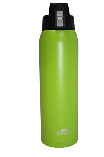 Fliptop Aquatix Double Wall Insulated Ultimate Sport Bottle 32 ounce Lime Green Stainless - Lime Green Bottle